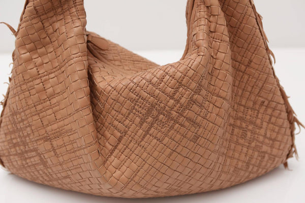 Bottega Venetta Nude Woven Hobo Bag