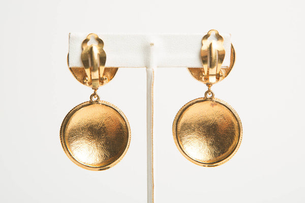 Chanel Gold Clip Earrings