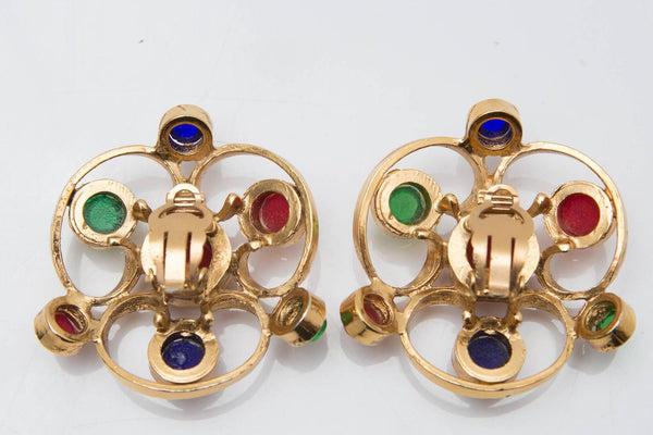 Chanel Gripoix Gold Plated Earrings