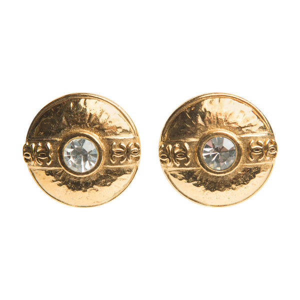 Chanel Round Brilliant Clip Earrings