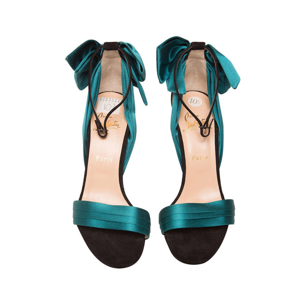 Christian Louboutin Teal High Heel Sandal