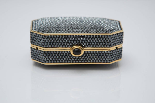 Judith Leiber Crystal Clutch With Gold Hardware