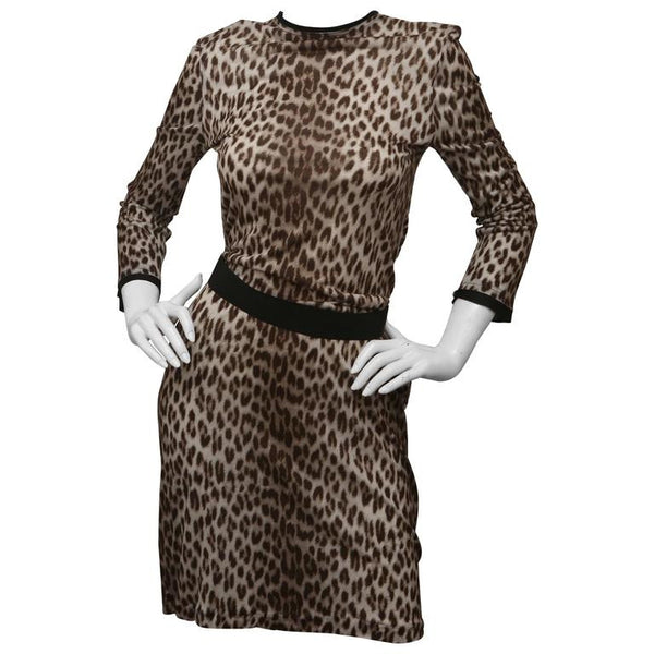 Lanvin Leopard Print Dress