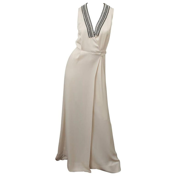 Malene Birger Deep V-Neck Sleeveless Floor Length Dress