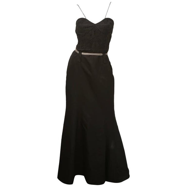 Yigal Azrouel Black Gown with Belt