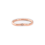 Anillo Curvo1 con Diamante Fancy en Oro 14K