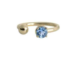 Anillo Topacio Azul Oro Amarillo 14K / Blue Topaz Yellow Gold 14K Ring