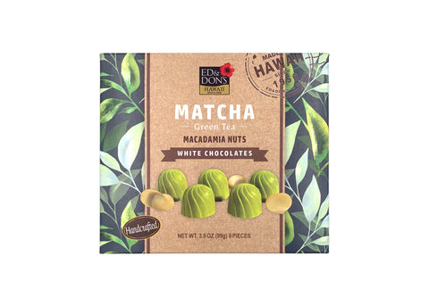 Matcha Green Tea Macadamia Nuts White Chocolate 3.5oz