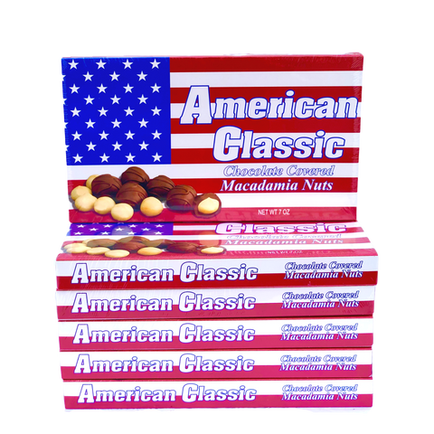American Classic Macadamia Nut Chocolate 7oz Special 6 pack