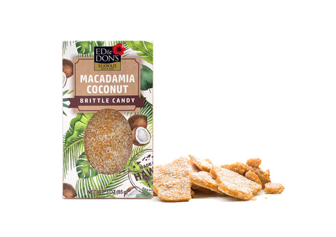Macadamia Coconut Brittle Candy 3oz