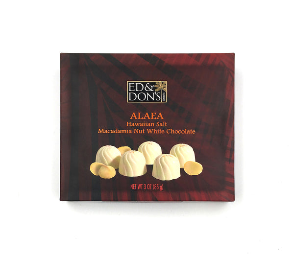 Alaea Hawaiian Salt macadamia nuts with white chocolate