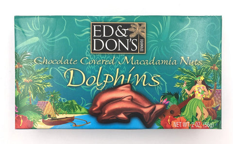 Hawaiian Dolphin Macadamia Nut Milk Chocolate 2oz