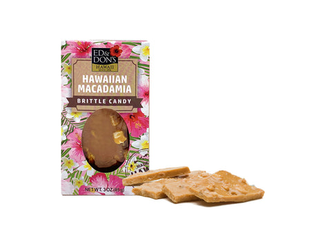 Hawaiian Macadamia Nut Brittle Candy 3oz