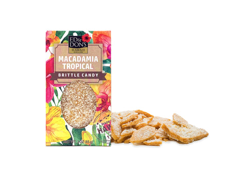Macadamia Tropical Brittle Candy 3oz