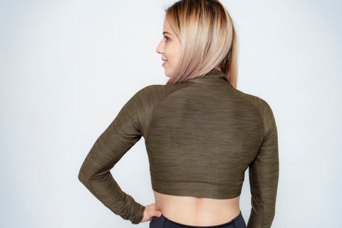 Zip-Up Crop Tops