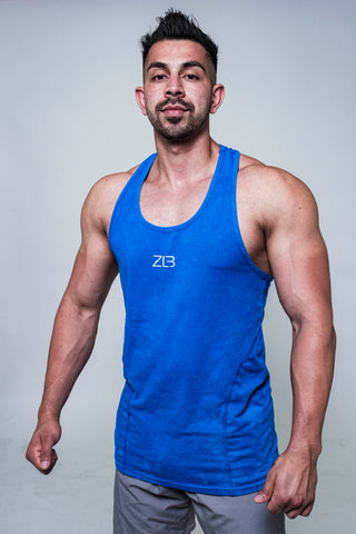 Racerback Tank (Blue Acid Wash)