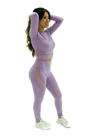 Yoga Crop Top (Lavender)