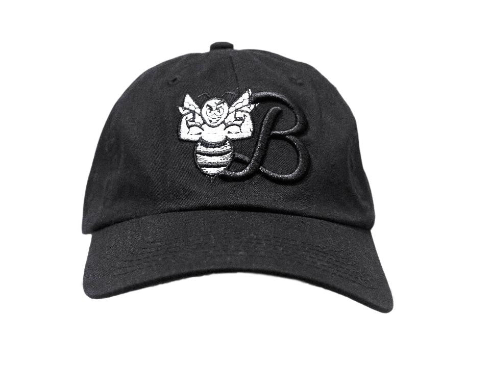 Black Cotton Sports Cap