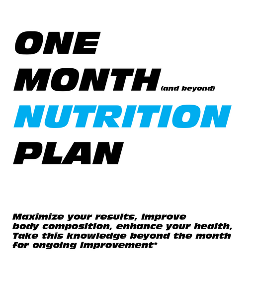 One Month Nutrition Plan