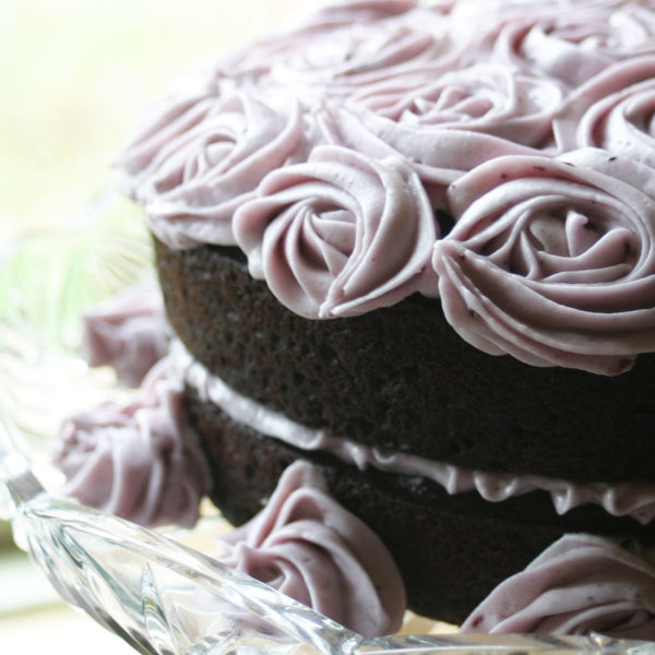 Chocolate Blueberry Beet Cake