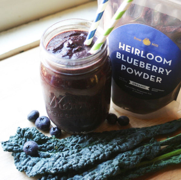 High Fiber Blueberry and Kale Smoothie