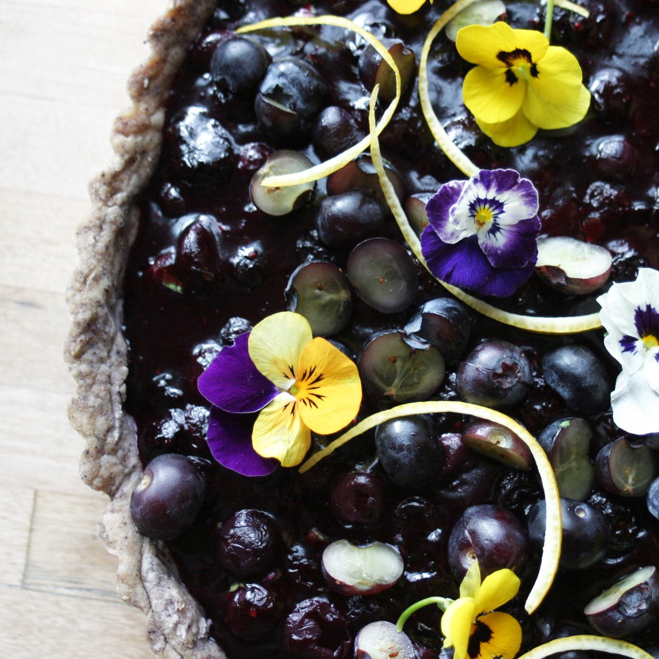Blueberry-Basil Pie
