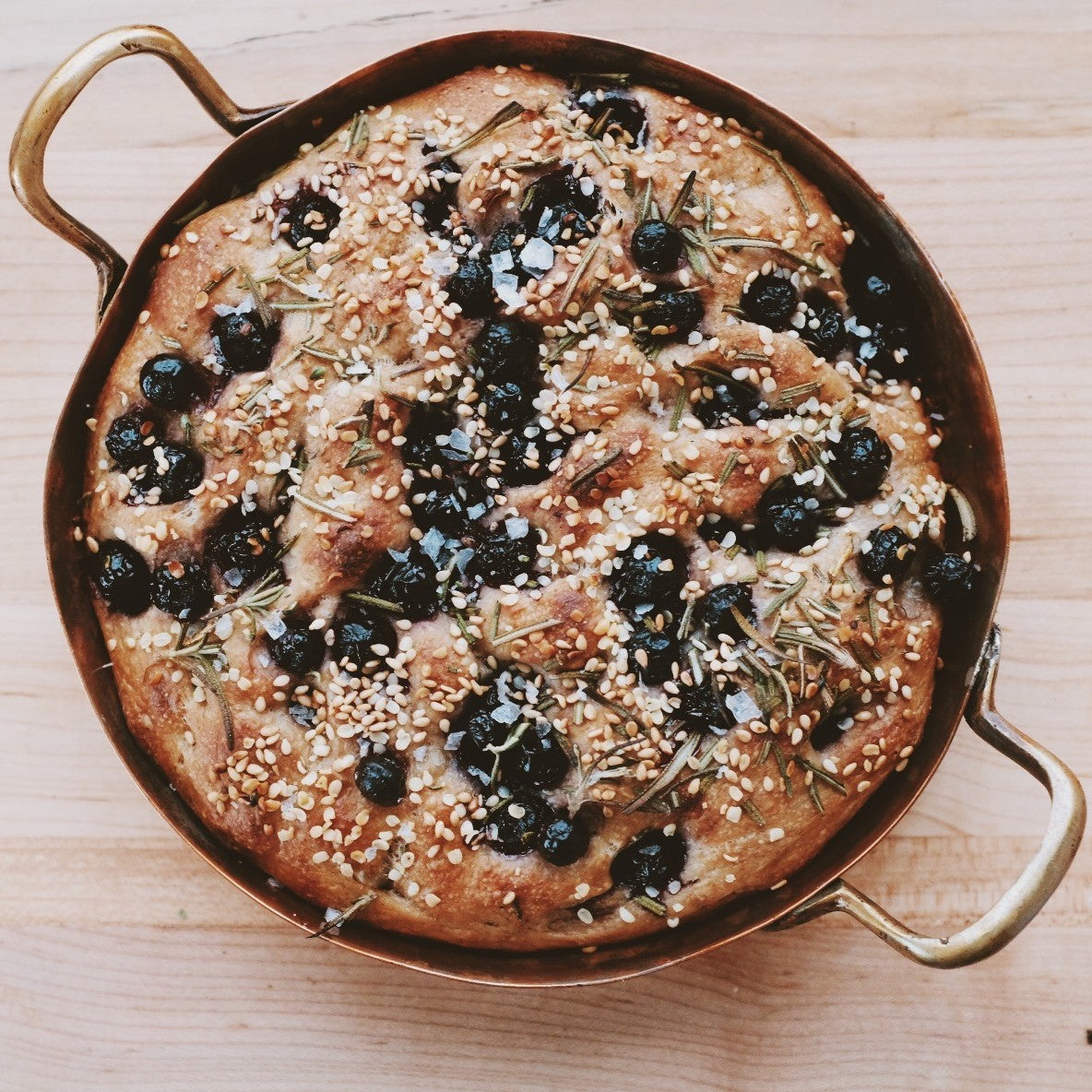 Naturally Leavened Pickled Blueberry & Rosemary Focaccia