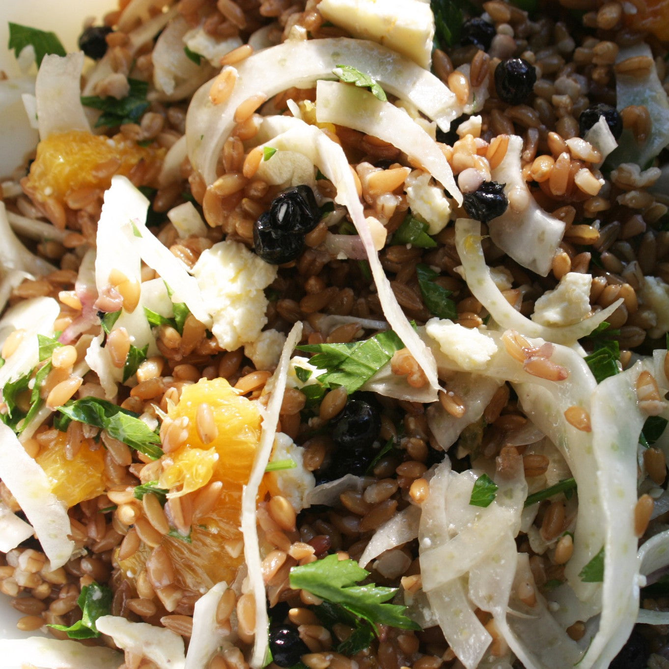 Pickled Blueberry Farro Salad