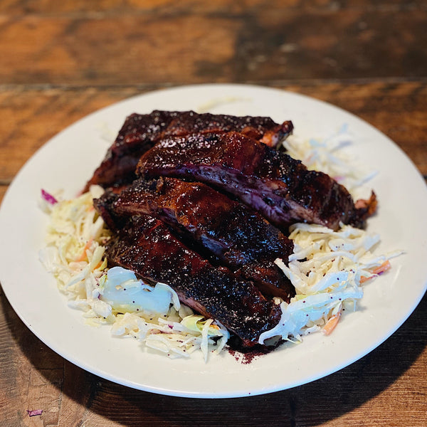 Blueberry BBQ'd Ribs