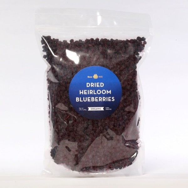 Organic Heirloom Dried Blueberries - Wholesale BAG 3-pound
