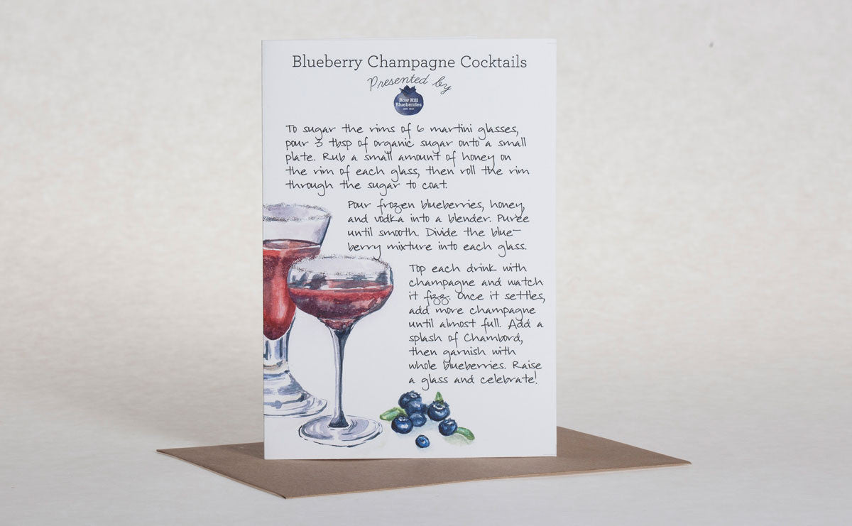 Recipe Greeting Card Bow Hill Blueberries