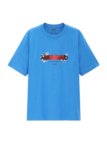 Billie Eilish Eyes T-Shirt (US Mens Sizing) Blue