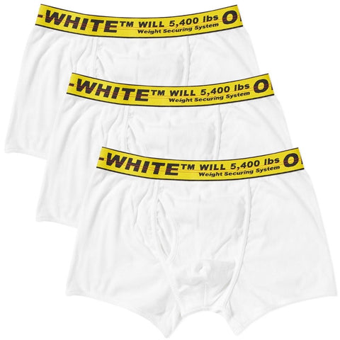 Off White Logo Yellow Waist Band Boxer 3 Pack