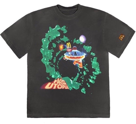 Travis Scott Fly-Thru McDonald's Cactus Jack Collection Black Tee