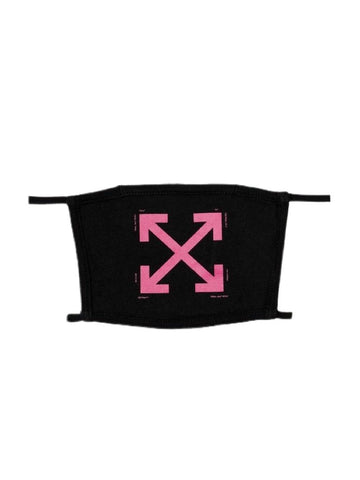 Off White Pink Arrow Face Mask