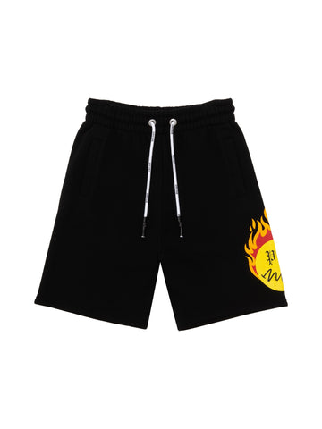 Palm Angels Burning Head Shorts Black