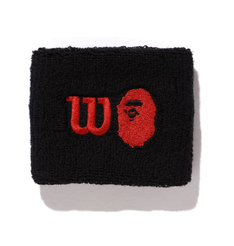 Bape x Wilson Wristband Black/Red