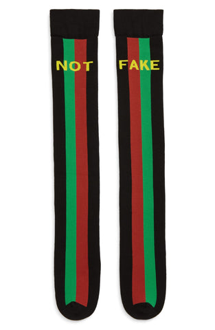 Gucci Men's Black Fake/Not Socks