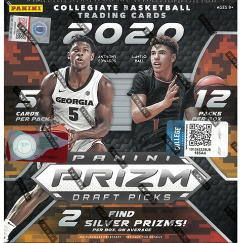 2020-21 Panini Prizm Draft Basketball Mega Box- feat. Anthony Edwards and LeMelo Bell- 60 Cards | Find 2 Silver Prizms