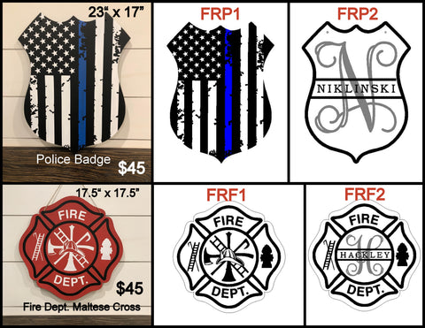 First responder door hanger designs