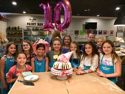 children's birthday parties at the workshop