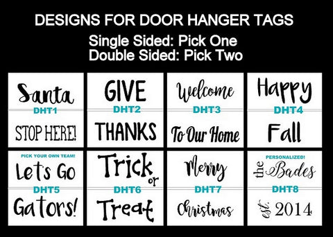 Double Sided Door Tag Designs