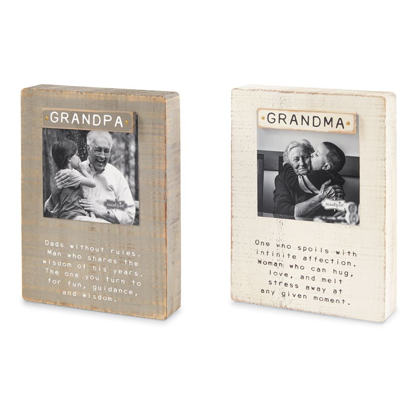 Mud Pie Grandparent Magnet Block Frame - 2 Styles