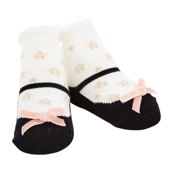 Mud Pie Baby Black Star Socks