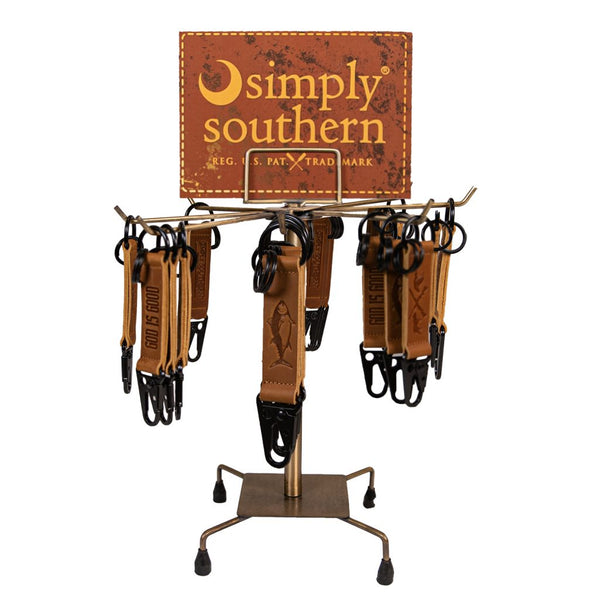 Simply Southern Leather Guys Key Clips -  8 Styles