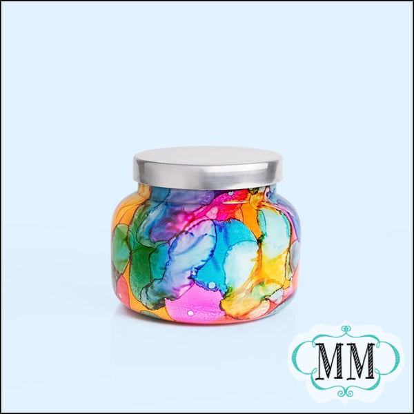 Capri BLUE Volcano Candle Signature Watercolor Jar 19 oz - Candle