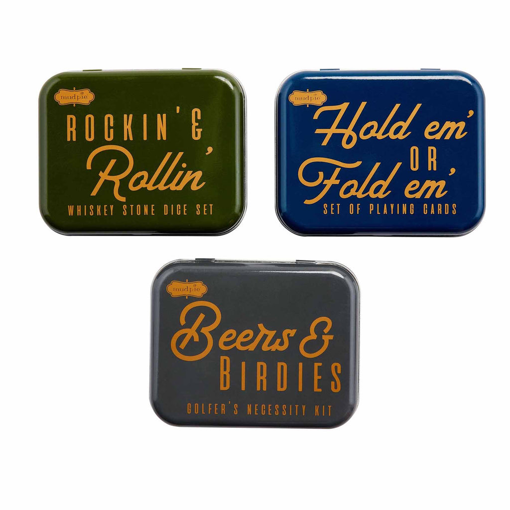 Mud Pie Tin Mens Gift Set- 3 styles