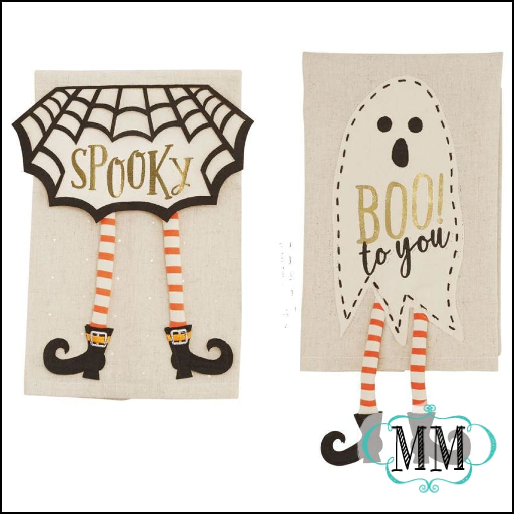 Halloween Dangle Leg Towels - 5 Styles - Table Top