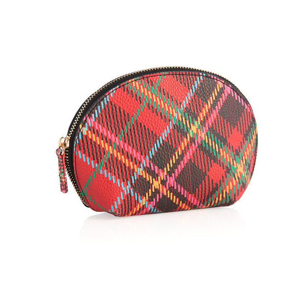 Holly Plaid Cosmetic Pouch by Shiraleah