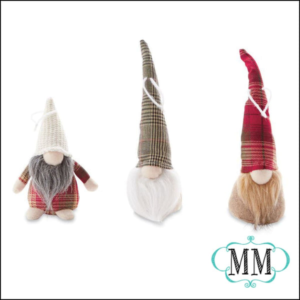 Lodge Gnome Ornaments - 3 Styles - Gift